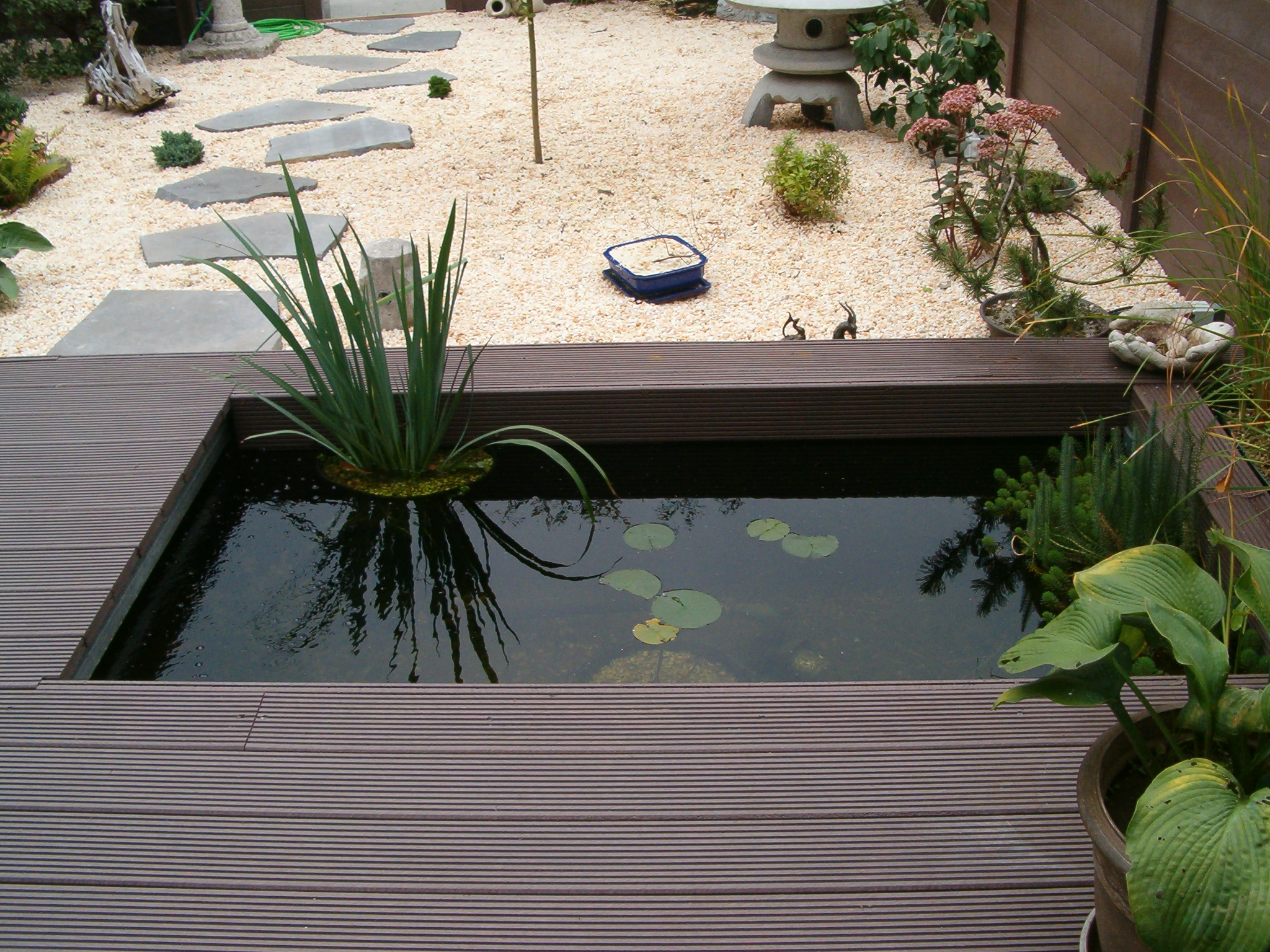 Einzigartig Teich Terrasse Schema
